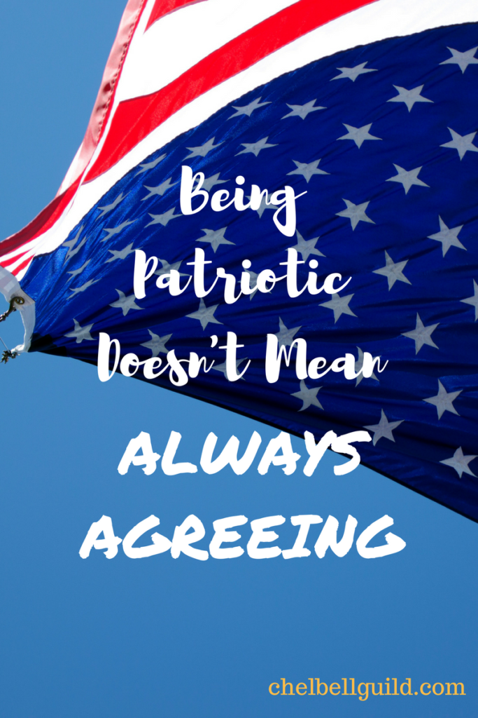 Being patriotic doesn't mean never calling your country into question.
