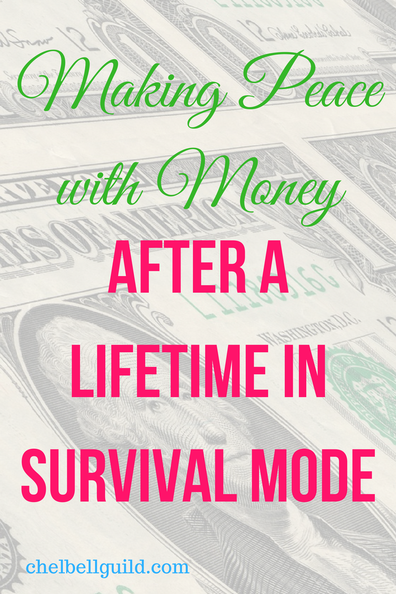 Do you have a negative relationship with money after living in survival mode? We all have to actively work to undo the faulty lessons we, for whatever reason, learned along the way.