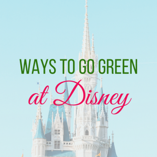 Ways to Go Green at Disney